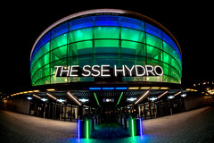 SSE (jonathan.scaife81) Tags: sse light green blue hydro glasgowc glasgow clyde scotland riverside concert hall night canon 650d rokinon 8mm fish eye