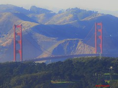 The Golden Bridge (Anton Shomali - Thank you for over 1 million views) Tags: walk trail travel shoreline shores country state usa us ca water connect green red 49ers giants sf san francisco california sanfrancisco golden bridge thegoldenbridge gate road highway street gateway peninsula sanfranciscobay bay bayarea beach ocean tree trees park marin county marincounty sun shadow mountin mountins pacific pacificocean lights cars trucks traffic people visitors sky sunny