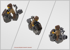 District 18 civilian hoverbike 'Grumpy Gramps' (Brixnspace) Tags: lego moc speeder hoverbike district18 district 18 civilian