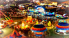 porter county fair (chicago_tarot) Tags: carnival indiana miniature tiltshift aerial above night lights rides amusementpark