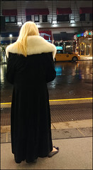 Just My Coat And Shoes... (raymondclarkeimages) Tags: rci raymondclarkeimages yahoo google usa 8one8studios mystyle flickr blond coat fur vs996 lg outdoor street cameraphone smartphone blonde nyc manhattan v30 city people hair
