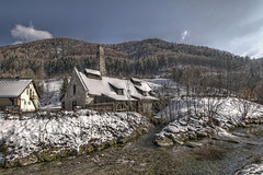 last snow (Erich Hochstöger) Tags: winter landscape building forge old abandoned brook snow forest