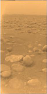 Titan Surface - 1st color image