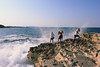 (mihxiii) Tags: summer sea water boys fun outdoors memories vacation holiday kids beach wet people rock