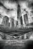 World trade center (questforfire2010) Tags: worldtradecenter blackandwhite freedomtower newyork downtown 911memorial