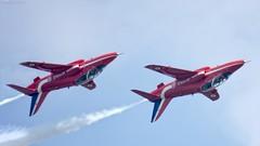 High speed inverted pass ... The Red Arrows. (Tony Baldwinson) Tags: redarrows raf waddington uk aircraft aviation airshows nikond7100 nikonafs80400
