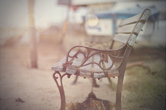 The Beach Bench... #HappyBenchMonday #HBM #7DWF #MondayFreeTheme (KissThePixel) Tags: bench benchmonday thebench happybenchmonday woodenbench bokehlicious bokeh beachbench beach stilllife stilllifephotography soft softbokeh vintage seat emptyseat nikon nikondf 50mm aperture f12 pastel depthoffield dofalicious dof 7dwf mondayfreetheme grey
