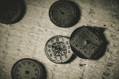 IMG_4842logo (Annie Chartrand) Tags: watch pocketwatch time clock macro movement numbers dial face hands stilllife antique old classic elgin geneva jewelry wood monochrome sepia patina rustic