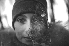 Clear vision~ New York (~mimo~) Tags: hat cold winter monochrome blackandwhite eyes face portrait ice girl newyork