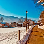 Sunny winter day in Kiefersfelden, Bavaria, Germany thumbnail