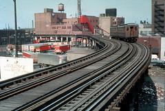 CTA Stockyards 7 Jeffrey Wein photo dupe slide (jsmatlak) Tags: chicago cta crt l elevated subway metro rapid transit electric railway train cjry stockyards clerestorycoachusstock illinois