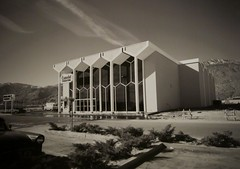 Camelot Theatre - Palm Springs, Calif. - year of opening: 1967 - Photographer Unknown (hmdavid) Tags: palmsprings california camelot theater theatre midcentury modern architecture 1960s 1967 commercial