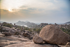 rock´n´roll (sami kuosmanen) Tags: india intia hampi asia luonto light rock landscape maisema sky taivas photography pilvi colorful creative clouds sun boulder lake winter water climbing travel hike