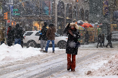 Snow storm (erichudson78) Tags: usa nyc manhattan timessquare canoneos6d canonef24105mmf4lisusm neige snow storm tempête newyorkcity streetphotography tempêtedeneige blizzard newyorkblizzard snowstorm winter hiver eyecontact walking candidshot