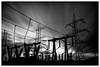 Transmission (ianrwmccracken) Tags: current blur exposure industrial ndfilter nikond750 cokinnuance 10stop bw phase transformer concrete scotland longexposure ianmccracken power silhouette monochrome steel cloud cable fife sky electricity nikkor1635mf4 pylon substation voltage