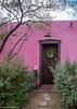 Pink Casita (Maureen Medina) Tags: maureenmedina artizenimages elbarrio tucson downtown az arizona mexican architecture house pink colorful door entrance front tree wreath