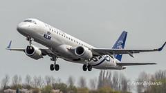 PH-EZX   Embraer ERJ-190 - KLM Cityhopper (Peter Beljaards) Tags: phezx embraer embraererj190 klmcityhopper skyteam aviationphotography jetliner schiphol amsterdam nikon ams eham takeoff polderbaan rwy36l