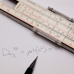 365.33 - Working it out (AmyGStubbs) Tags: 2018 365the2018edition 3652018 calculator e30 equation fl50 flash olympus olympus1260f284edswd pencil sliderule stilllife