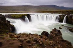 Godafoss (Jonathan Miske) Tags: autumn canon canon6d canonef1635mmf4lisusm canoneos6d cloudy day fall godafoss honeymoon iceland landscape longexposure water waterfall northeasternregion explore