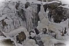 Der Wasserfall am Eisgraben... (Uli He - Fotofee) Tags: ulrike ulrikehe uli ulihe ulrikehergert hergert nikon nikond90 fotofee rhön dreiländereck schwarzesmoor moor winter februar tieferwinter eis eisig schneeundeis eisgraben
