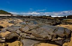 Rock with a gritty grin (jack eastlake) Tags: beaches wild wildbeaches surfing tathra murrah bermagui wildbeachaus park national np rocks mimosa seascape nsw coast south far geology