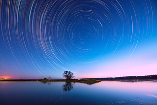 Island Point Star Trails, Western Australia