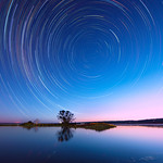 Island Point Star Trails, Western Australia thumbnail