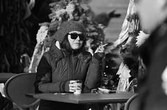 «Coffee and Cigarettes» (Andrey  B. Barhatov) Tags: moscow russia streets blackandwhite noiretblanc blackandwhiteonly people streetphoto streetnotes ilfordhp5 ilfordhp5400 pentaxmz7 pentax ru filmtype135 film analog filmfilmforever filmoriginal filmmood filmisnotdead filmphoto filmphotography monochrome monotone bnwmood bnwfilm bw bwfp bnw bnwdark printbypro barhatovcom analogphoto grain mood xtol street citywalks noritsuls1100filmscanner россия москва люди город городскиезаметки лица наблюдатель зима фотопленка пленка чб чернобелое maslenitsa women smoking smcpentaxfa80320mmf4556