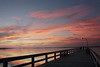 Cotton candy sunset (thelittleone417) Tags: sunset boardwalk pier cottoncandyclouds cottoncandycloud cottoncandysunset wood bridge ocean water reflection colors seascape