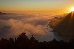 Through the Gates of Heaven (Synapped) Tags: san francisco california marin sunset ocean beach fog water