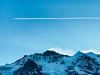 Airplane above Jungfrau (tothandras) Tags: lauterbrunnen bern switzerland ch peak mountain mountainscape alp mountaineering summit moun alpine glacier lake snow alps interlaken grindelwald wengen swiss jungfrau region