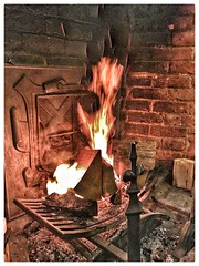 Winter Fireplace (Karl Snell) Tags: fun hdr inside ambient warm 6s iphone travel walk prior castle fire winter england salford