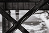 bent (fallsroad) Tags: muskogeeoklahoma ok16 bridge arkansasriver abandoned decay steel truss bw blackandwhite monochrome brace bent