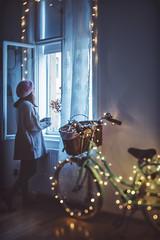 She. (www.juliadavilalampe.com) Tags: selfie selfportrait me bokeh bike bicicleta window vienna wien austria österreich life room altbau zimmer light europe