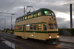 Blackpool Transport Balloon Car 723 (Will Swain) Tags: blackpool 7th october 2017 lancs lancaster north west coast coastal tram trams light rail railway rails transport travel europe tramway balloon car 723