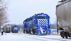 Clare Shuffle (GLC 392) Tags: 385 390 mi michigan emd gp35 glc great lakes central railroad railway train branch line snow winter clare gp382 396 397 shuffle ontn cstn