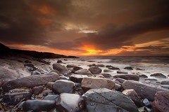 Sunset of Colour (PeterYoung1.) Tags: atmospheric beautiful colours clouds landscape nature peteryoung1 rocks scenic scotland seascape sunset scottish portencross uk
