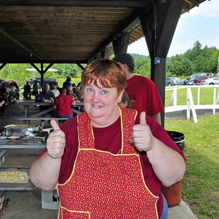 Community Chicken BBQ 17 - Two Thumbs Up For The Meal