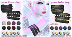[ bubble ] Unisex Spikes Cuffs (::: insanya ::: & [ bubble ]) Tags: secondlife bubble originalmesh accessories unisex cuffs camo mesh hud metals limitededition exclusive limit8