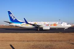 JA85AN_HND_130118_KN_283 (JakTrax@MAN) Tags: ja85an ana all nippon airways tohoku flower jet boeing 737 b738 738 73h 737800 winglets b737800 hnd tokyo haneda airport rjtt inspiration japan