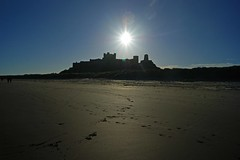 Star (WISEBUYS21) Tags: sun star bamburgh castle beach silhou silhouette centre northumbria sand bright ray sunshine sunrise northumberland wisebuys21