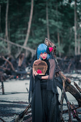 Remilia Scarlet (Forbidden Garden) (bdrc) Tags: 85mm apsc alpha alphauniverse asdgraphy banting beach cosplay dead evening f18 female forbidden forest girl gothic kelanang klang lady malaysia nature outdoor pantai people portrait prime project remilia sand scarlet sea sel85f18 single solo sony sonyalpha sonyimages sunset touhou tree vampire wood flash strobe godox ad600 reflector