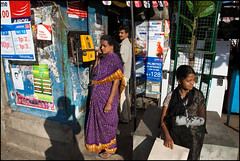 (Arindam Thokder) Tags: img1067 coinphone publicphone girl bangalore street india yellowphone