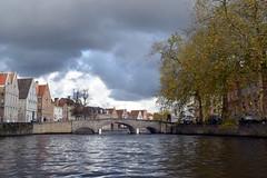 Brugge(Bruges), Belgium. (Manoo Mistry) Tags: nikon nikond5500 tamron tamron18270mmzoomlens brugge bruges belgium europe river sky trees tourism tourist boattour