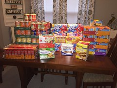 JLGA donated food items for backpacks that were handed out to individuals who attended Project Homeless Connect on January 30, 2018.