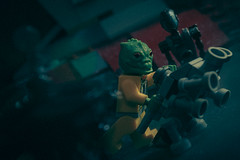 bounty who stole a droid 3 (jooka5000) Tags: starwars bossk droids cinema lighting slave1 cinematic mouse film diorama bountyhunter cinematography lego atte remote control