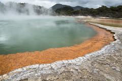 Champagne Pool, Wai O Tapu. (miketonge) Tags: champagnepool waiotapu rotorua newzealand northisland thermal pool volcanic steam