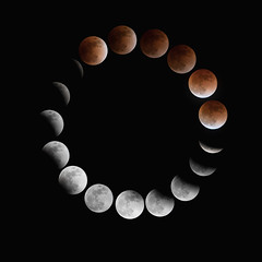 The 2018 Lunar Eclipse: January 31 (jasohill) Tags: composite color eclipse amazing nature stars super city moon iwate flickr red blue astronomy hachimantai blood photography life sky 2018 landscape japan cold circular timelapse circle design poster