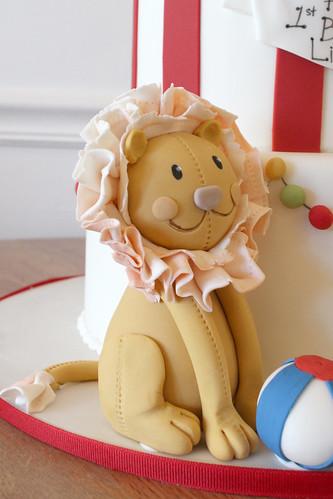 Circus Lion Figurine Cake