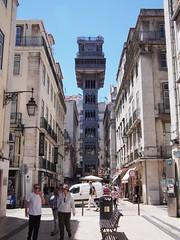 Santa Justa Lift (procrast8) Tags: lisbon portugal santa justa lift elevator iron rua street